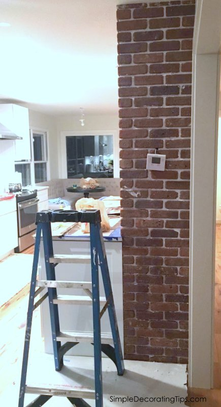 SimpleDecoratingTips.com Exposed Brick Chimney