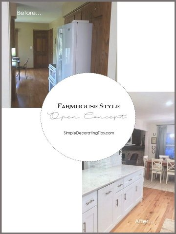 SimpleDecoratingTips.com Farmhouse Style Open Concept