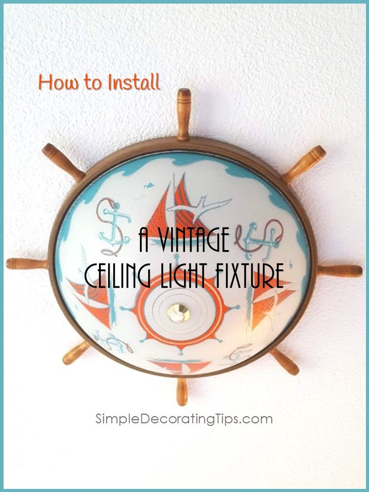 How to Install a Vintage Ceiling Light Fixture - SIMPLE ... Wiring Light Fixtures on wiring electrical, wiring led lights, wiring outlet, wiring voltage, wiring books, wiring cover, wiring lighting, wiring art, wiring cabinet, wiring plug, wiring table, wiring ceiling fan, wiring dryer, wiring tools, wiring ballast, wiring bathroom, wiring kitchen, wiring cable,