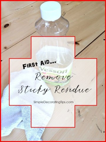 First Aid Remove Sticky Residue SimpleDecoratingTips.com