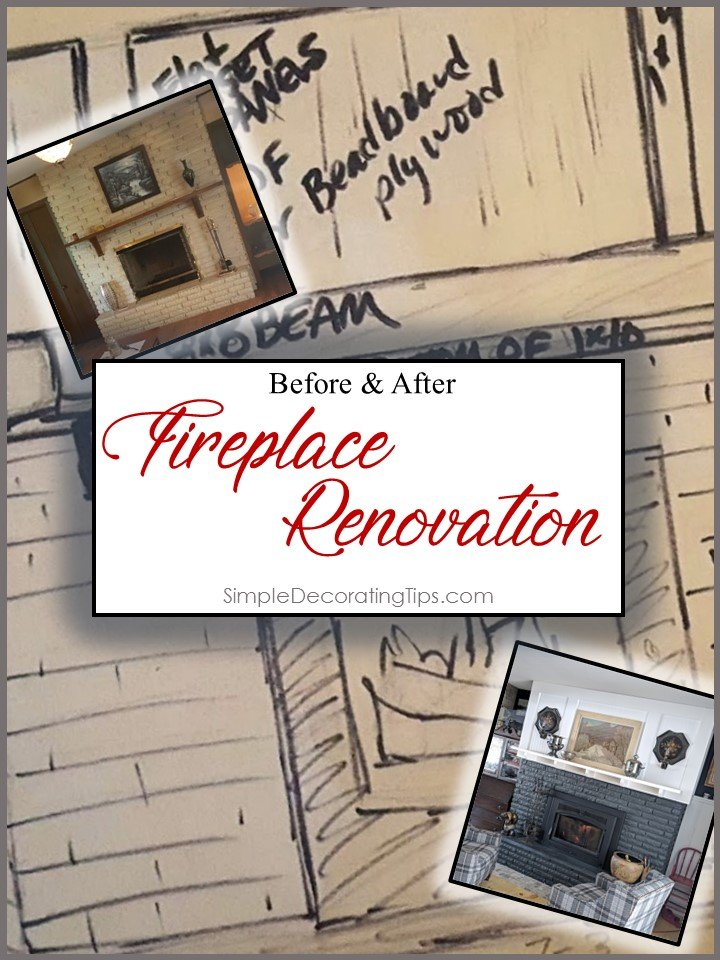 Before & After: FIREPLACE RENOVATION - SIMPLE DECORATING TIPS