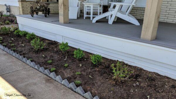 before & after front garden landscaping SimpleDecoratingTips.com