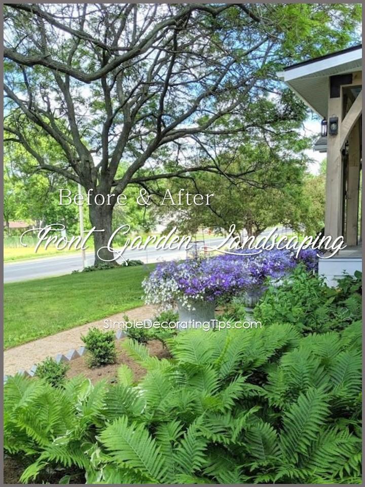 Before & After Formal Cottage Garden
