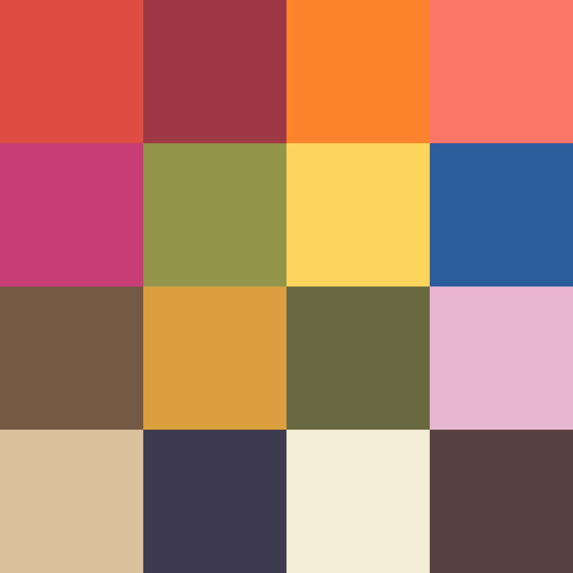 color palette pantone for