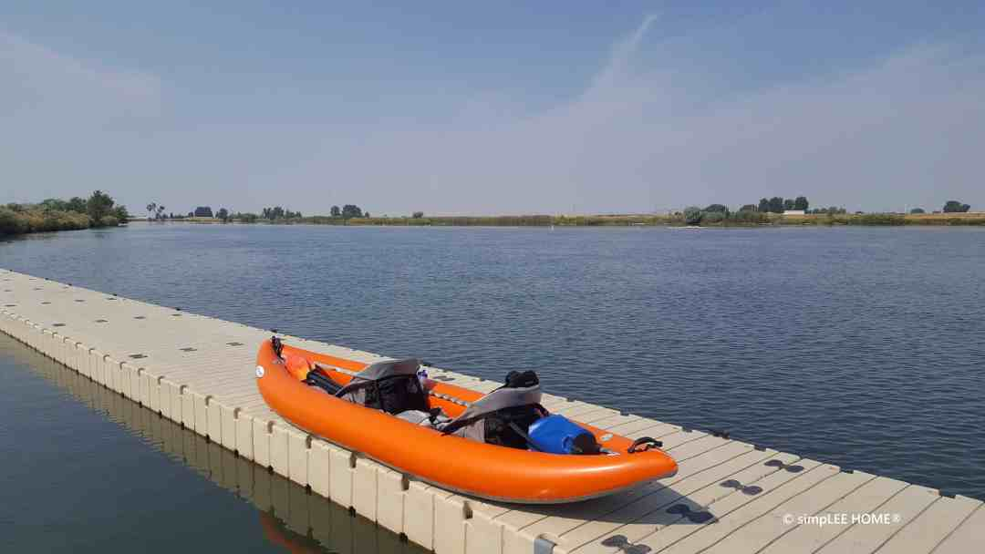 image of a kayak on a boat dock