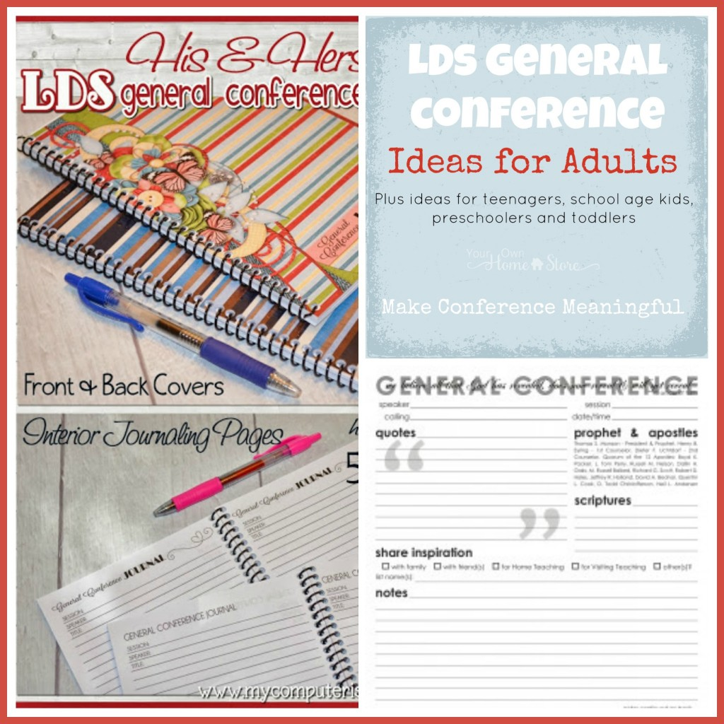 General Conference Activity ideas for adults, plus the Ultimate list of Ideas for making General Conference Meaningful for all ages: http://simplefamilypreparedness.com/?p=9461