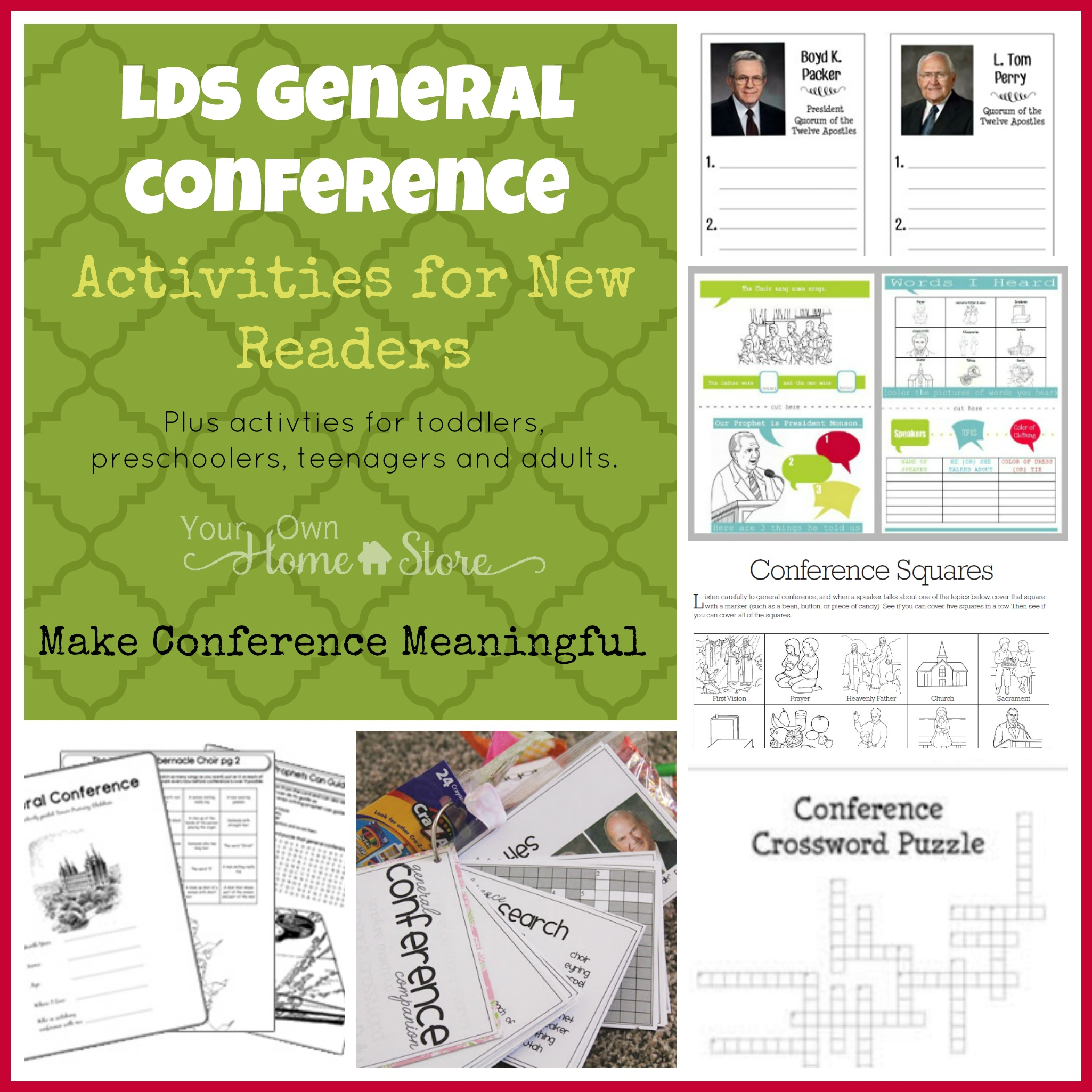 General Conference Activity Ideas