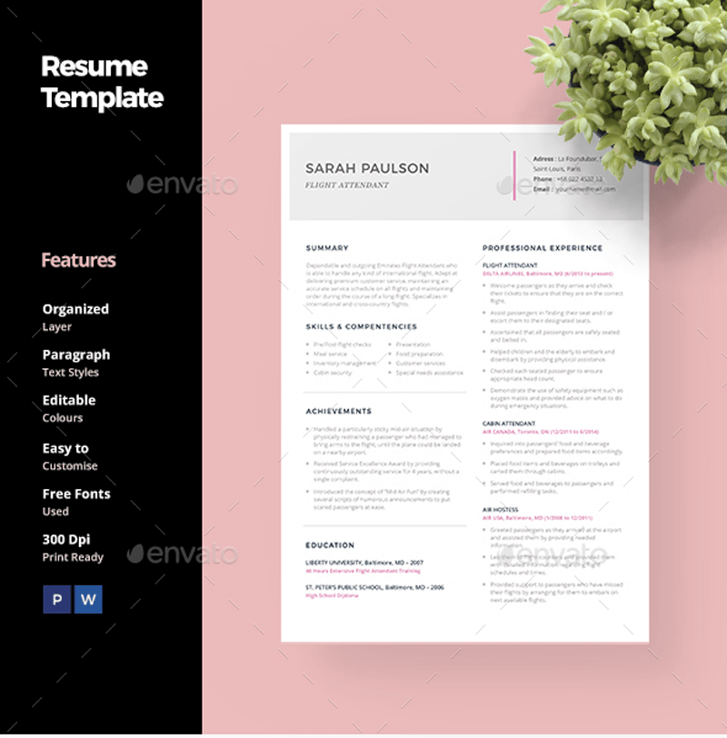 free reference template for resume