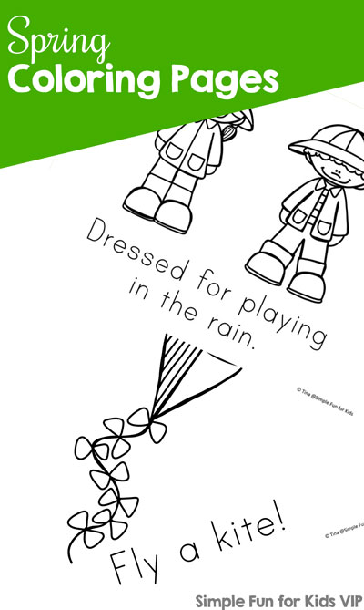 Spring Coloring Pages  Simple Fun for Kids VIP