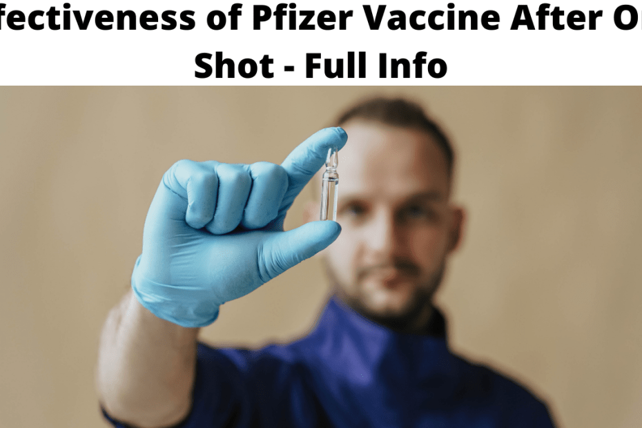 Effectiveness of Pfizer Vaccine After One Shot - Full Info