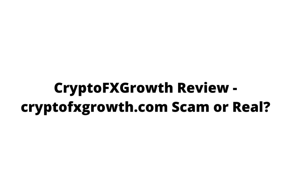 CryptoFXGrowth Review