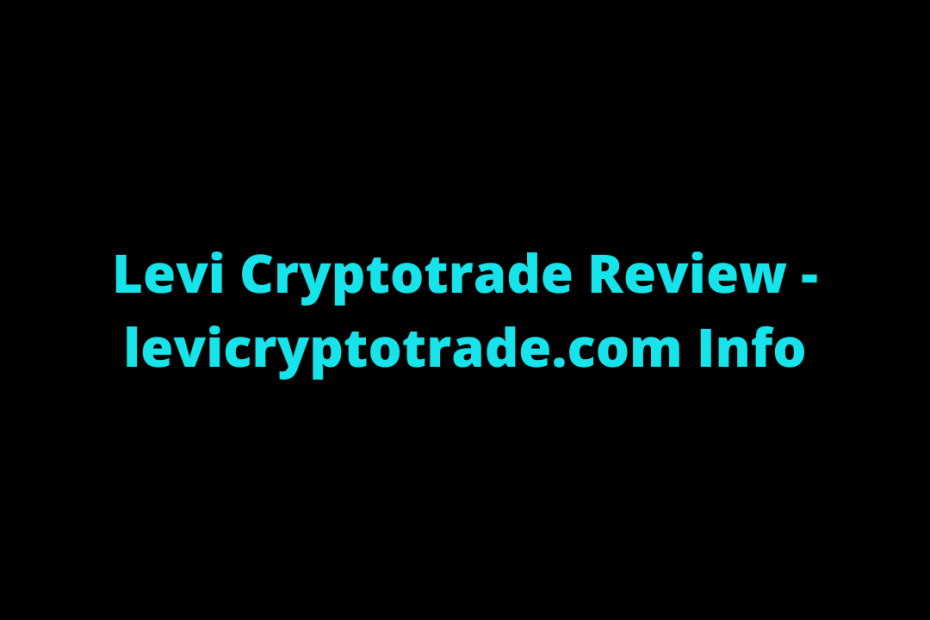 Levi Cryptotrade Review
