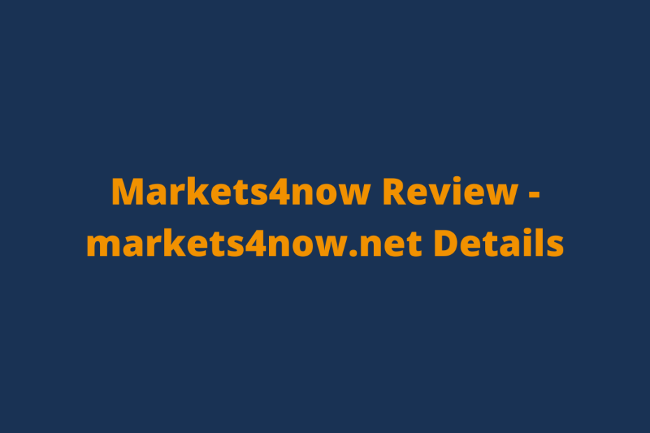 Markets4now Review