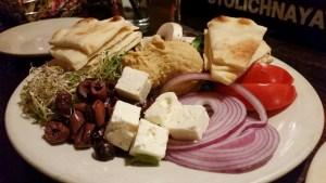 Hummus Platter at Metropolitan Coffeehouse