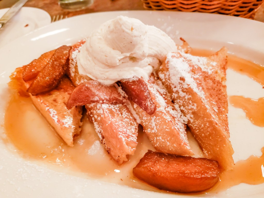 French Toast and Apples at Parc