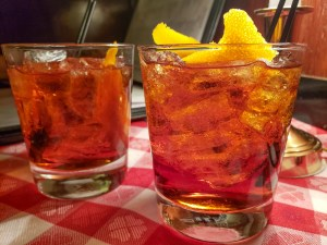 Negronis at The Victor Cafe