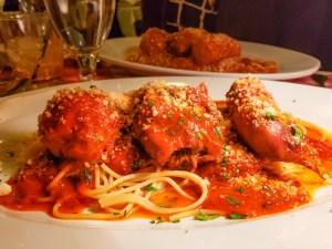 Spaghetti Rusticana at The Victor Cafe