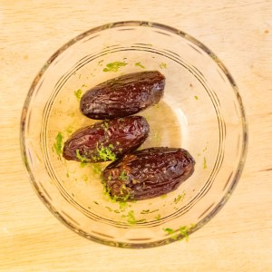 Warm Dates with Almonds and Lime Zest