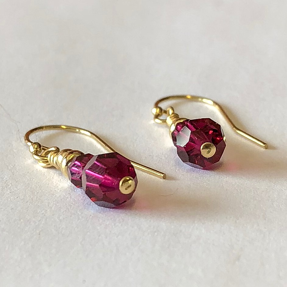 July Birthstone Birthday Gifts For Her Jewelry Ruby Earrings