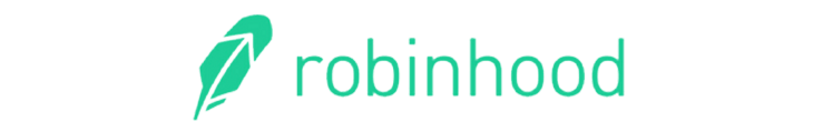 the feather and text logo for robinhood stock investing app