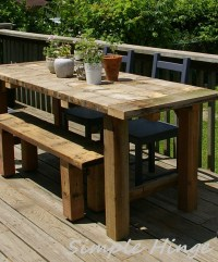 Rustic Outdoor Table | Simple Hinge llc