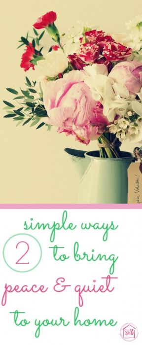 2 simple ways to bring peace and quiet to your home, simple solutions that take less than 5 minutes each