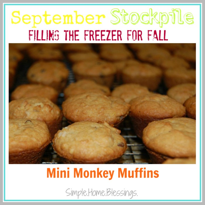 September Stockpile Mini Monkey Muffins