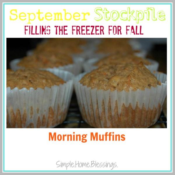 September Stockpile Morning Muffins