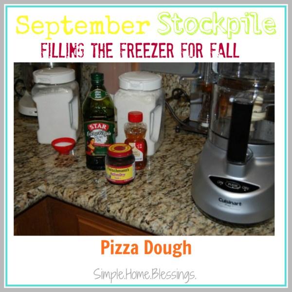 September Stockpile Pizza Dough