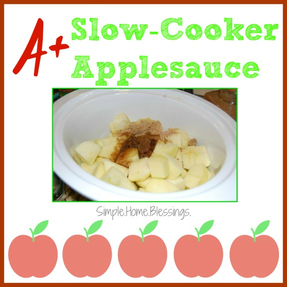 A+ Slow-Cooker Applesauce