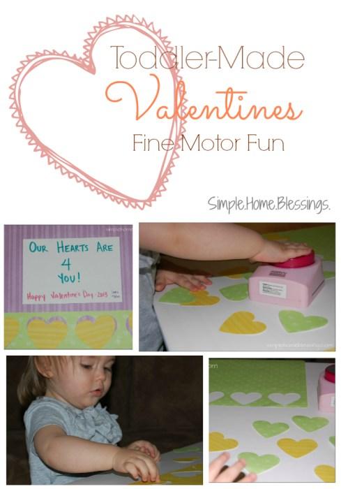 Toddler-Made Valentines