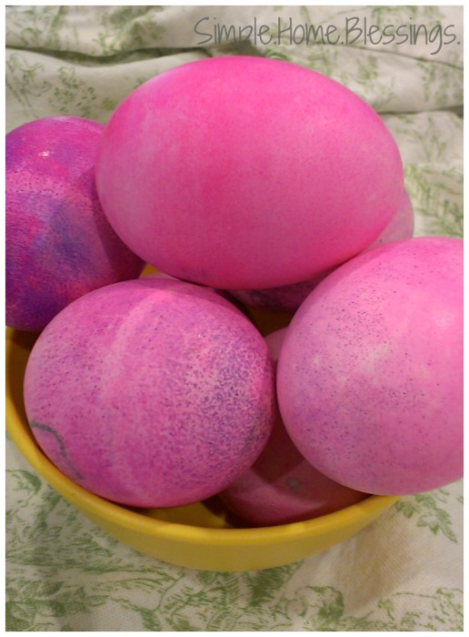 Toddler Dyed Easter Eggs