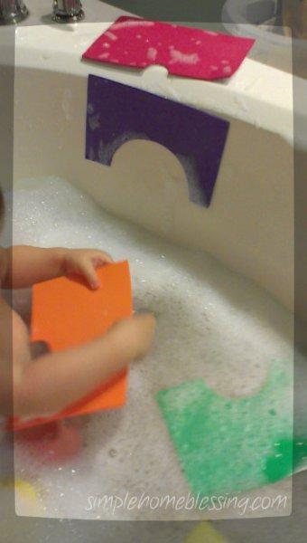 foam rainbow play