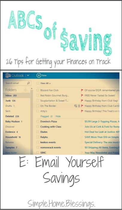 ABCs of Saving - Email Yourself Savings