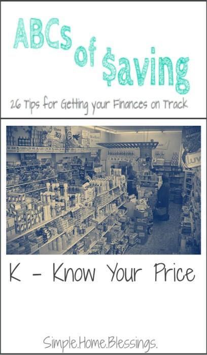 ABCs of Saving - Know Your Price