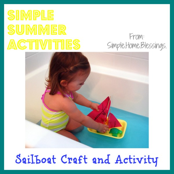 Sailboat Craft and Activity