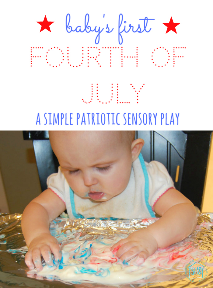 simple sensory play for babies for the 4th of July