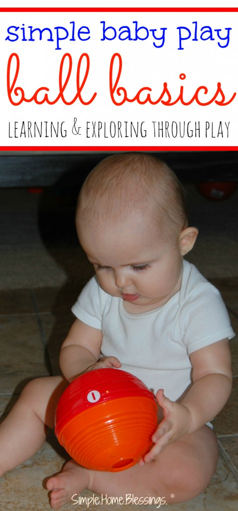 baby play ideas using balls - simple ideas for baby play and learning