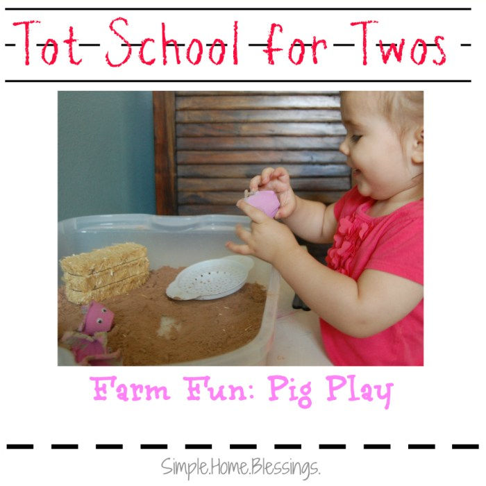 Tot School for Twos Farm Fun Pig Play