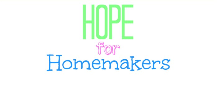 hope for homemakers