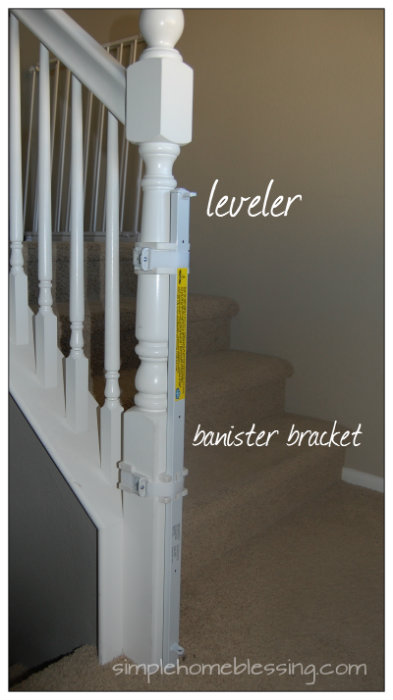 banister bracket for baby gate