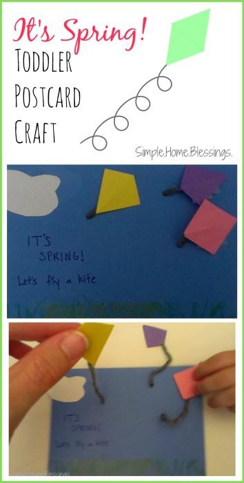 It's Spring! Toddler postcard craft