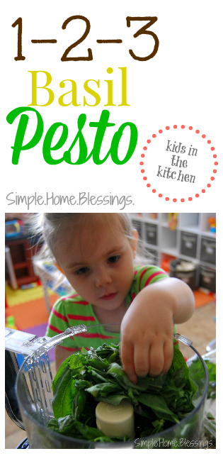 1-2-3 Basil Pesto - Kids in the Kitchen