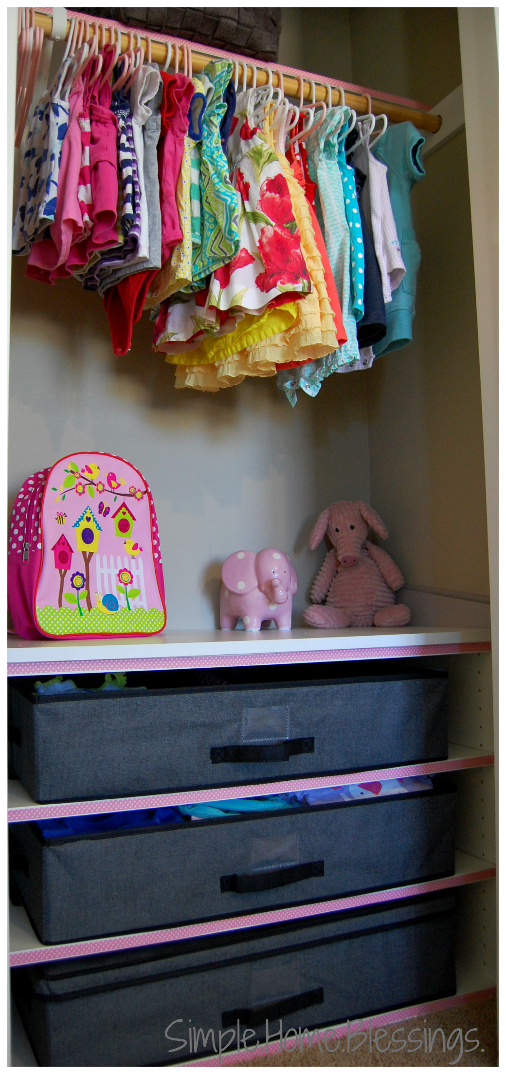 This Is Wu0027s Side Girls Shared Closet Reveal   Simple Closet Makeover