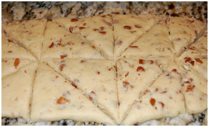 Pecan Cinnamon Chip Scones - simple preparation, freezable