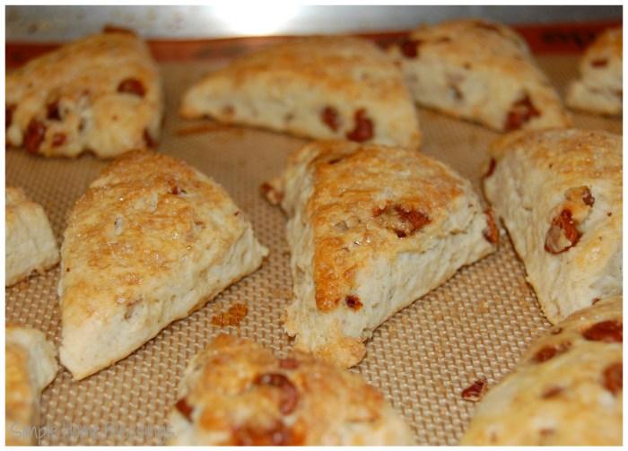 Pecan Cinnamon Chip Scones - simple recipe with yummy results