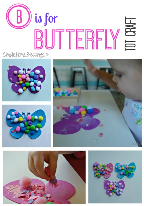 B is for Butterfly Tot Craft