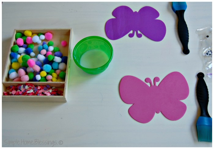 B Is For Butterfly Toddler Craft Simple Home Blessings