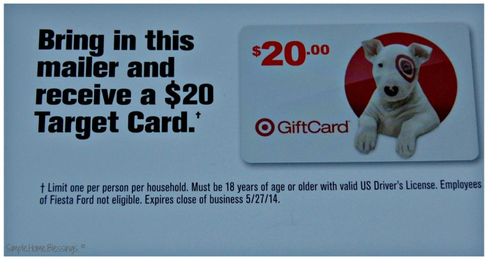 Holiday Weekend Promotions - Target Giftcard for FREE!