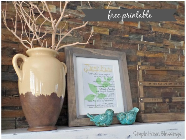 Free Printable Prayer for a Godly Household - home blessing